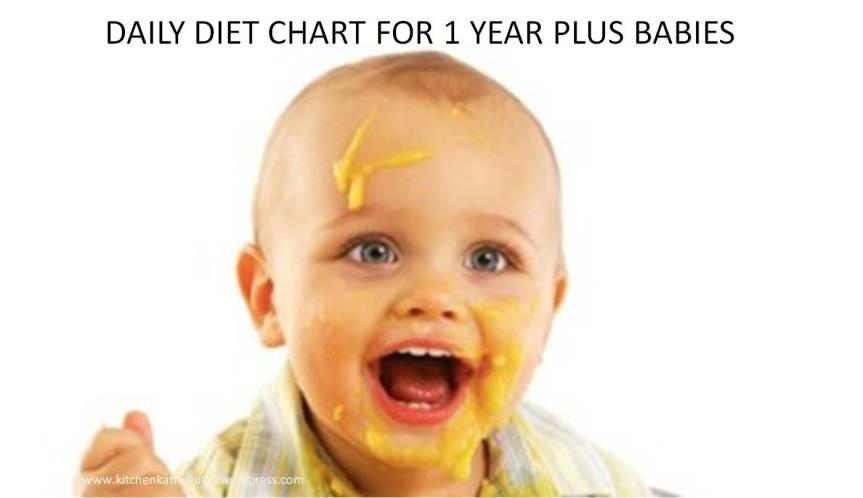 Baby Diet Chart 6-(1 year plus to 2years)