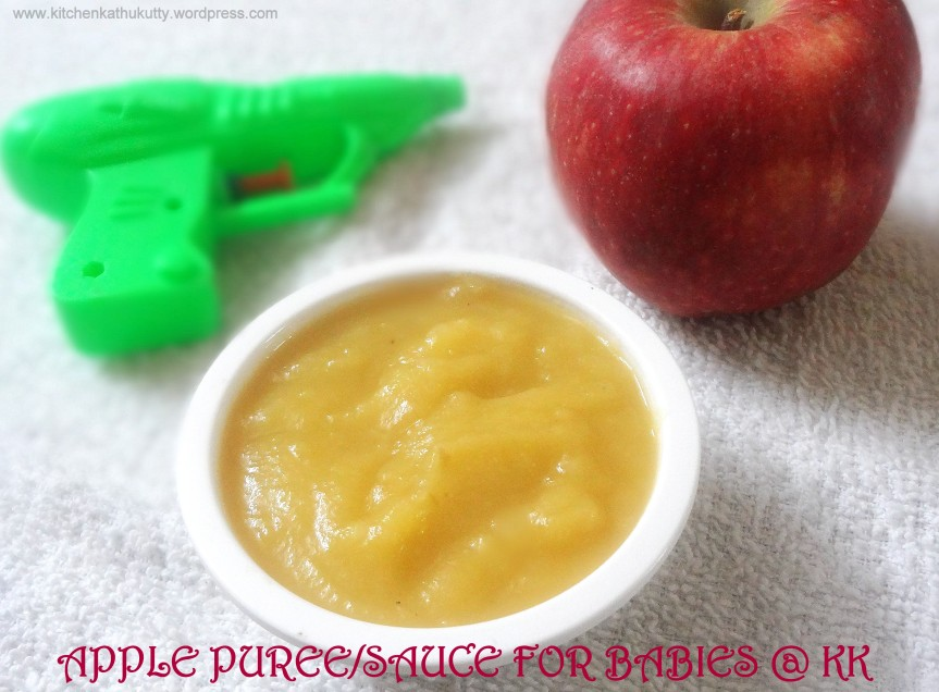 APPLE SAUCE/PUREE FOR BABIES-How to steam cook fruits/vegetables for baby food?